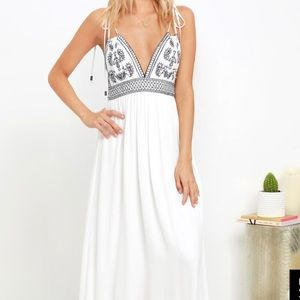Days of Sunlight embroidered maxi dress